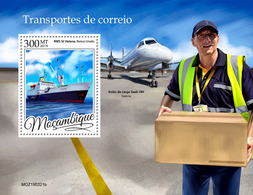 MOZAMBIQUE 2019 - Mail Transport, Ship S/S. Official Issue - Ships