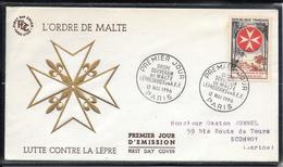 FDC 1956 - 1062  Ordre De Malte - Léproserie En A.E.F. - 1950-1959