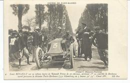 SPORT AUTOMOBILE. Course Paris Madrid. Pilote Louis Renault Sur Sa Renault Frères. 2ème à Bordeaux. - Motorsport