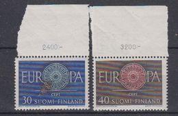 Europa Cept 1960 Finland 2v (+margin) ** Mnh (43292) - 1960