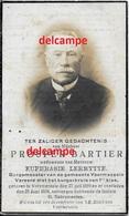 Doodsprentje Prosper Bartier Voormezele 1859 Burgemeester  En Aldaar Overleden 1928 Lermytte Hollebeke Wijtschate Kemmel - Images Religieuses