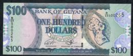 GUYANA P36d 100 DOLLARS  2006 Signature 15 #B/69 UNC. - Guyana