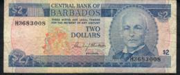 BARBADOS P60 2 DOLLARS 2000 #H36   VF - Barbados