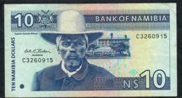 NAMIBIA P1 10 NAMIBIA DOLLARS 1993 #C Signature 1   XF - Namibia
