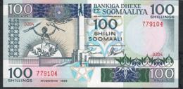 SOMALIA P35d 100 SHILIN 1989 UNC. - Somalia