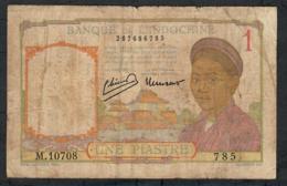 FRENCH INDOCHINA P54c 1 PIASTRE 1946 V FINE - Indochina