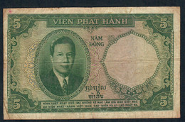 FRENCH INDOCHINA P106 5 PIASTRES 1953  AVF NO P.h. ! - Indocina