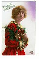 CPA - Carte Postale Pays Bas -Hartelijk Gefeliciteerd Avec Une Jeune Dame Fleurie - VM4017 - Wensen En Feesten