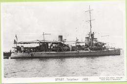 STYLET Torpilleur  1905  / Photo Marius Bar, Toulon / Marine - Bateaux - Guerre - Militaire - Guerra