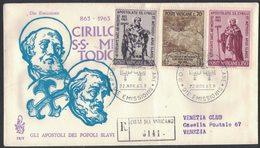 RB74    FDC Venetia: SS CIRILLO E METODIO (1963); Raccomandata - FDC
