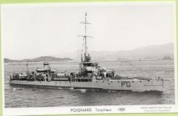 POIGNARD  Torpilleur   1909  / Photo Marius Bar, Toulon / Marine - Bateaux - Guerre - Militaire - Guerre