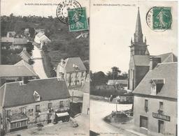 CPA 262- MANCHE (50) - Saint Jean Des Baisants---2 Cartes Avec Magasins - France