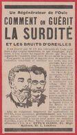 Comment On Guérit La Surdité. Régénérateur De L'ouie. Otyl's Clinic. Londres. 1914. - Publicités