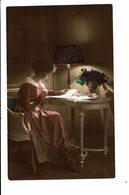 CPA - Carte Postale Pays Bas -Jeune Femme Assise à Son Bureau 1908- VM4019 - Wensen En Feesten