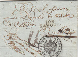 France Italia Dept Conquis Savona Entier 108 SAVONE Liguria Pour Alassio 1806 Militaire (q20) - 1792-1815: Départements Conquis
