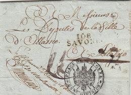 France Italia Dept Conquis Savona Entier 108 SAVONE Liguria Pour Alassio 1806 Militaire (q20) - Marcophilie (Lettres)