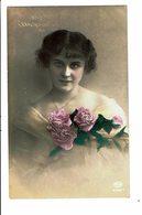 CPA - Carte Postale Pays Bas -Jeune Femme Et Trois Roses- 1930-VM4020 - Vrouwen