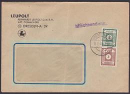 Mischsendung SBZ OPD Ostsachsen MiNr. 56, 57 3 U. 5  Pfg.  LEUPOLT Gummiwerk 14.2.46 - Zona Soviética