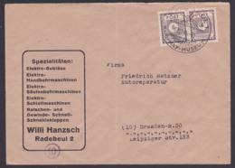 Radebeul SBZ MiNr. 58 (2), 6 Pfg. Firmen-Fernbrief 7.12.45, SoSt.Karl May Museum, Abs W. Hanzsch Elektro - Zone Soviétique