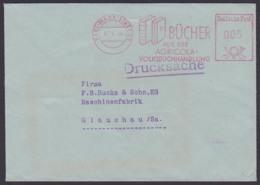Karl-Marx-Stadt DDR AFS 3.6.64 Acricola Buchhandlung Book, Literatur Livre, Drucksache - Marcofilie - EMA (Print Machine)