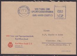 Karl-Marx-Stadt DDR AFS27.11.59 Dienstpost VEB Turn- U. Sportgerätefabrik - Gymnastik