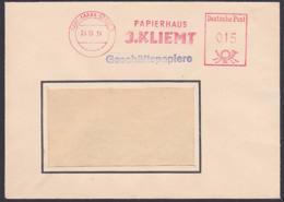 Karl-Marx-Stadt Germany East AFS 25.10.54, Papierhaus J. Kliemt Geschäftspapiere - [6] Oost-Duitsland