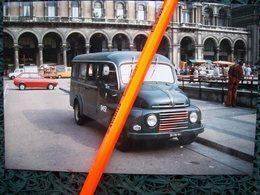 FOTOGRAFIA MINI BUS FIAT 615 ATM MILANO Azienda Tranviaria - Cars