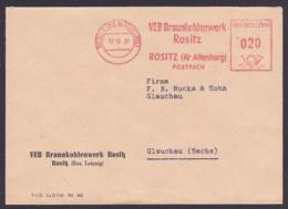 Rositz Kr. Altenburg  AFS 12.10.61 VEB Braunkohlenwerk Kohle, Coal, Charbon - DDR