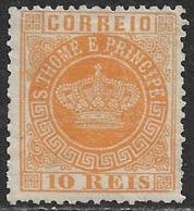 St. Thomas & Prince – 1870 Crown Type 10 Réis - St. Thomas & Prince