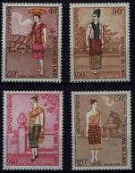 Laos 1973 - Trachten  Folk Costume - MiNr 354-357 - Kostüme