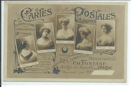 Cartes Postales Illustrées-Comptoir Philocartiste Ch.FONTANE 30 Rue Du MailParis-carte Photo D'un Représentant En Cartes - Other
