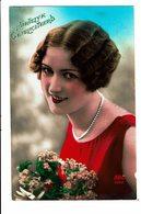 CPA - Carte Postale Pays Bas -Hartelijk Gefeliciteerd Dame Avec Cheveux Ondulés -1931 VM4023 - Wensen En Feesten