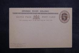 """AFRIQUE DU SUD - Entier Postal Surchargé """" Orange River Colony """" Non Circulé - L 33521 - África Del Sur (...-1961)"""