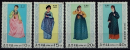 Korea-Nord 1977 - Trachten  Folk Costume - MiNr 1600-1603 - Kostüme