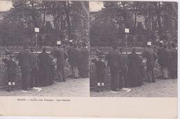 75 - PARIS - JARDIN DES PLANTES - LES OTARIES  - CARTE STEREO - VUE STEREOSCOPIQUE AVEC PUB CHOCOLAT LOUIT AU VERSO - - Stereoscope Cards