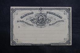 GUATEMALA  - Entier Postal Commerciale ( Repiquage Au Verso ) Non Circulé - L 33525 - Guatemala