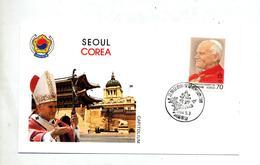Lettre Cachet  Visite Pape Seoul - Corée Du Sud