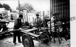 87 - BUSSIERE GALANT- LE CHATAIGNIER SCIERIE UNE ACTIVITE TYPIQUE DE LA REGION - RARE PHOTO ORIGINALE - Profesiones