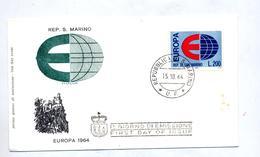 Lettre  Fdc 1964 Europa - FDC