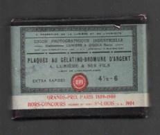 Boite De Plaques Gelatino Bromure D'argent  LUMIERE Et JOUGLA 4,5 X 6  Incomplète 5 Plaques - Matériel & Accessoires