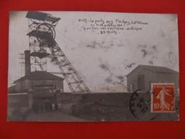 CPA CARTE PHOTO SAINT ETIENNE LE PUITZ DES FLACHES 1911 OU A EU LIEU  EXPLOSION DE GRISOU - Saint Etienne