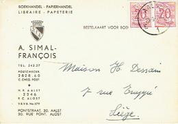 PK Publicitaire AALST 1959 - A. SIMAL-FRANCOIS - Boekhandel - Papierhandel - Aalst