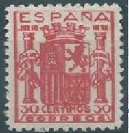 ESPAGNE SPANIEN ESPAÑA 1936 ESCUDO ESPAÑA GRANADA 3 COLOR VARIETY GREEN MNH ED 801 MI 750 SG ND1 SC 615 YV 563 - 1931-50 Nuevos & Fijasellos