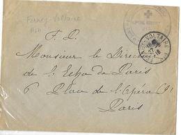 01-cachet De L'Hôpital Aux. N°217 De Ferney-Voltaire Sur Lettre - Marcophilie (Lettres)