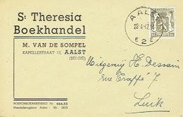Postkaart Publicitaire AALST 1947 - ST THERESIA - Boekhandel - Aalst