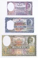 Nepal 3 Note Set 1945 COPY - Nepal