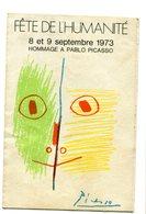 Vignette D'entrée à La Fête De L'Humanité 1973 - Tickets - Entradas