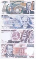 Mexico 4 Note Set 1992 COPY - Mexico
