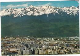 Grenoble - Vue Générale Et Chaine De Belledonne - ( 38, France) - Grenoble
