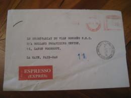 ROMA 1970 To La Haye Pays Bas CAMERA DEI DEPUTATI Express Meter Mail Cancel Cover ITALY - 1961-70: Marcophilia